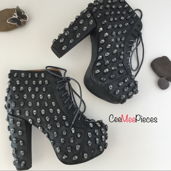 "b47a877d231b Jeffrey Campbell Shoes - Jeffrey Campbell ""Lita"" Skull Platform Booties"